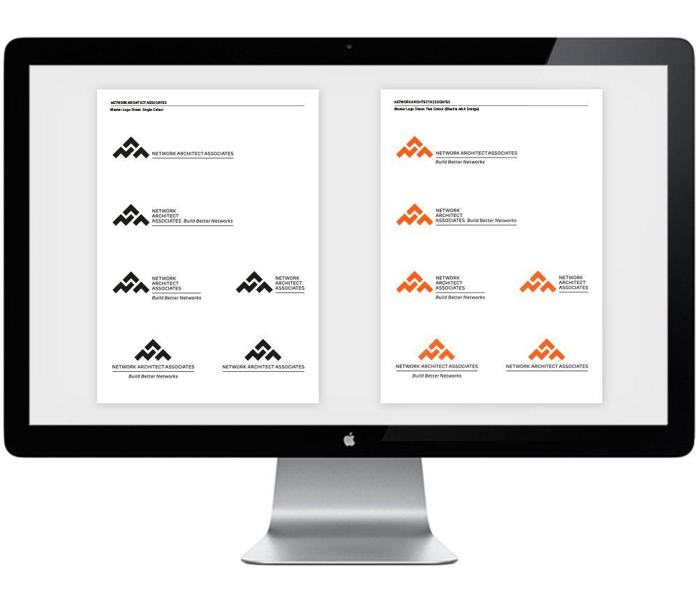 Network Architect Associates Logo Lock-ups