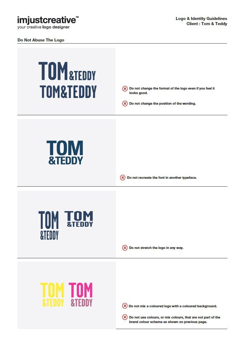 Tom & Teddy Logo Guidelines 1