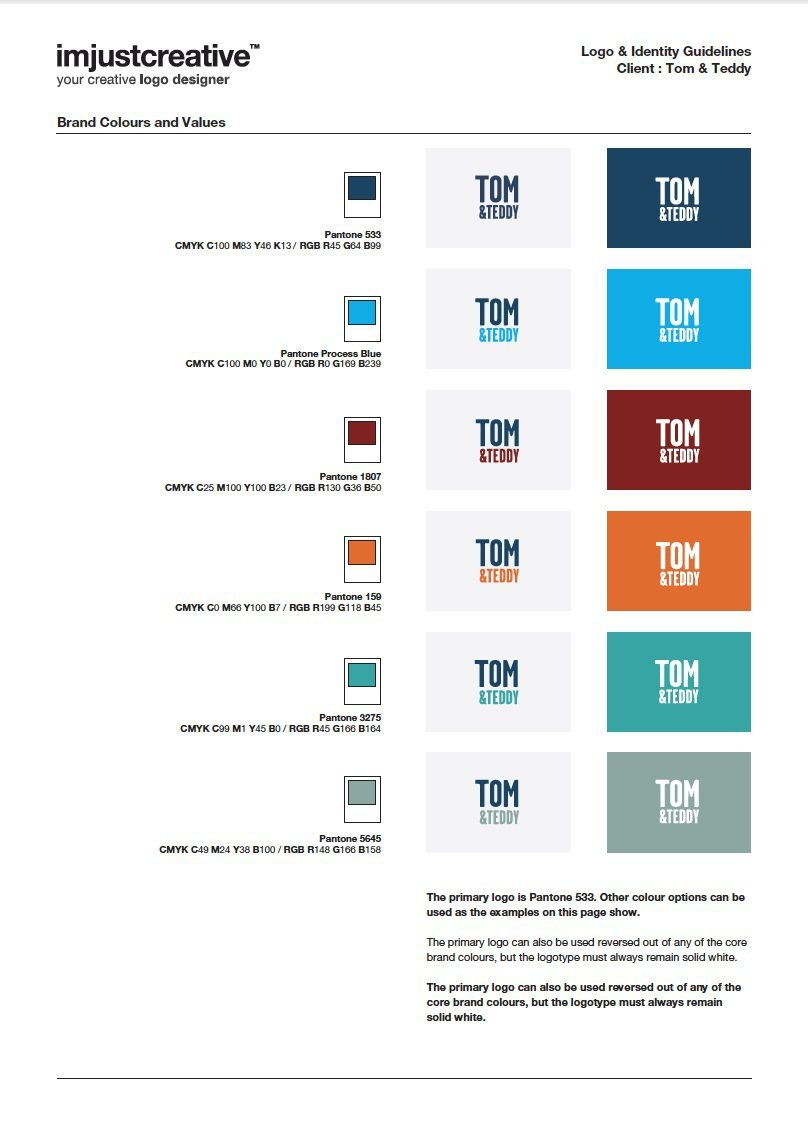 Tom & Teddy Logo Guidelines 3