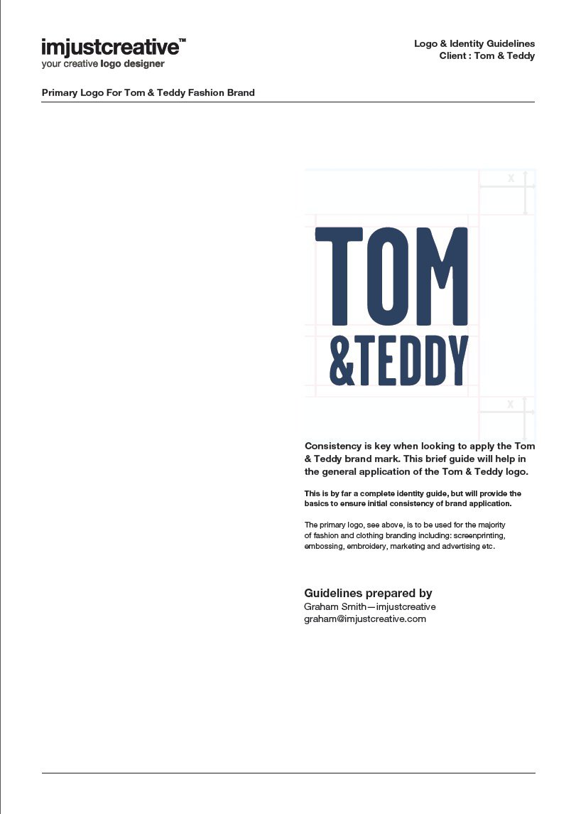 Tom & Teddy Logo Guidelines 4