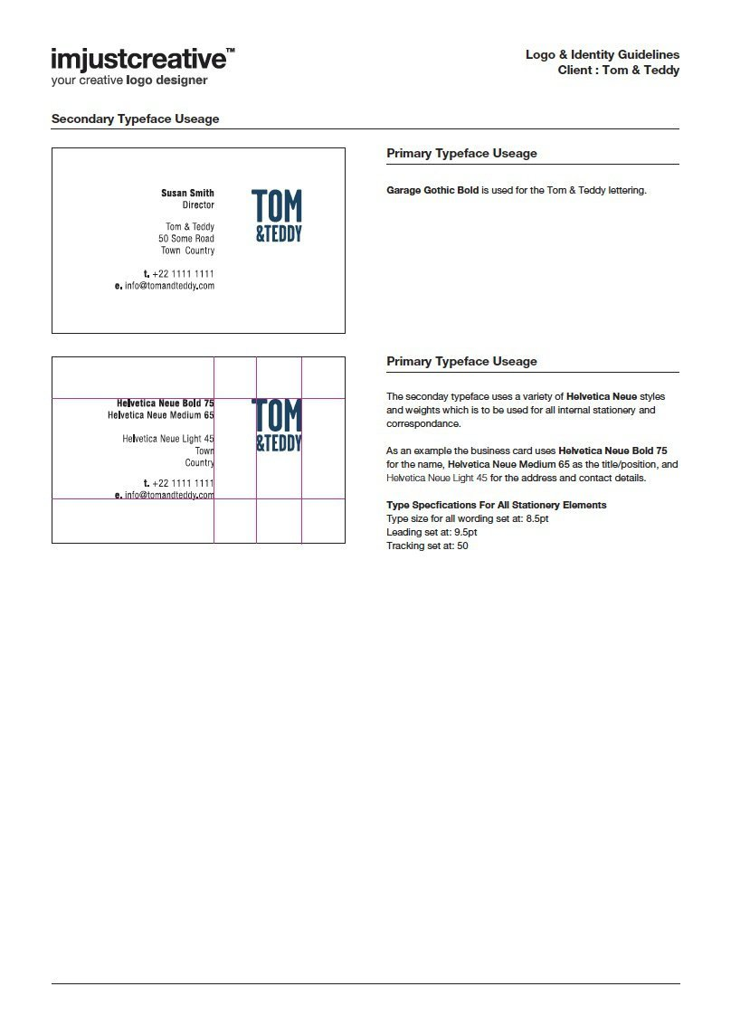 Tom & Teddy Logo Guidelines