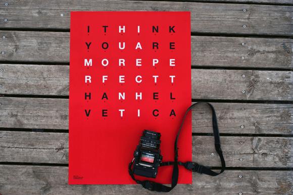 Helvetica poster-