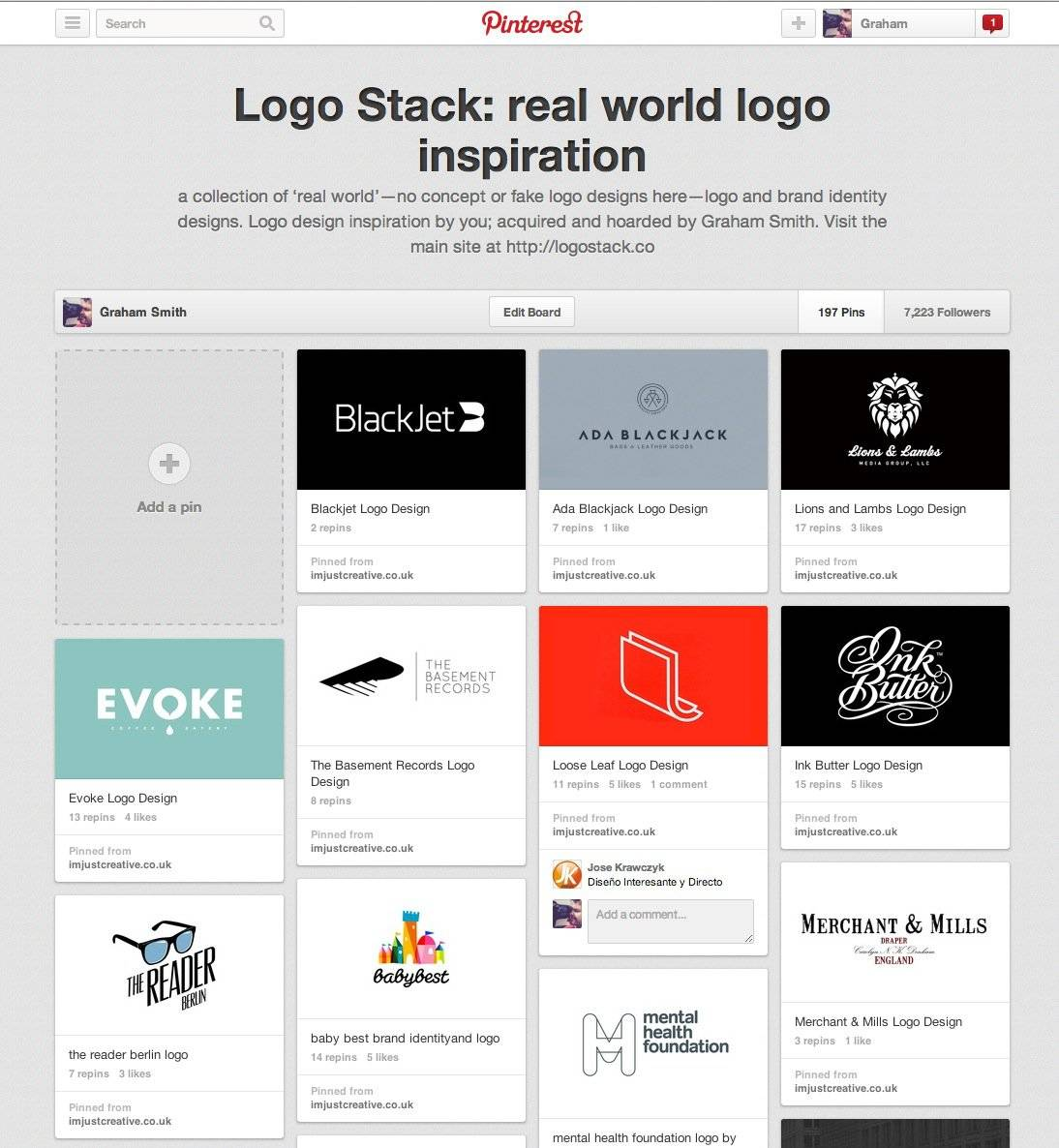 Logo Stack on Pinterest