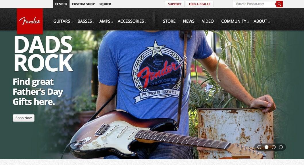 Fender Website