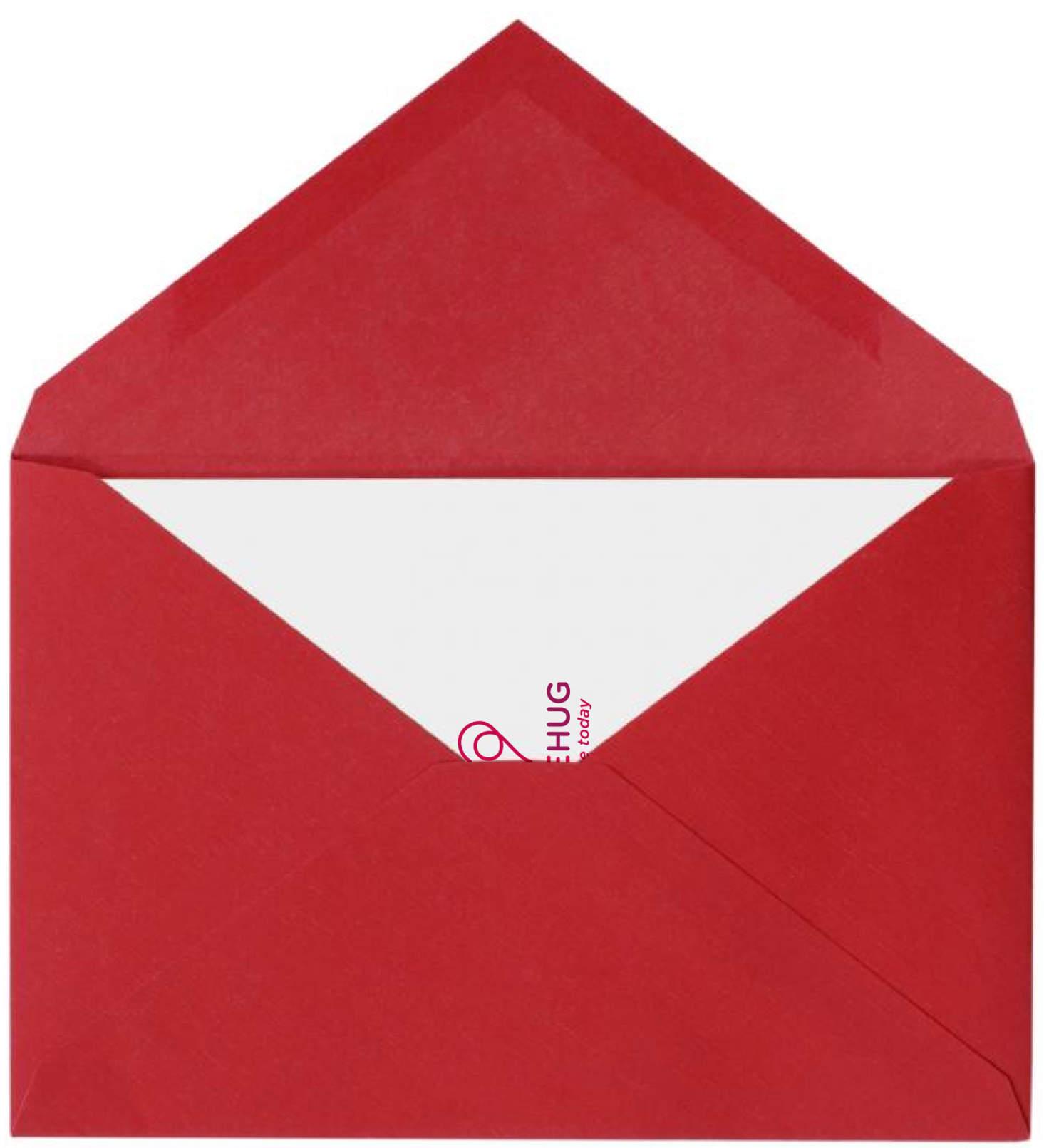 LoveHug envelope designed by imjustcreative