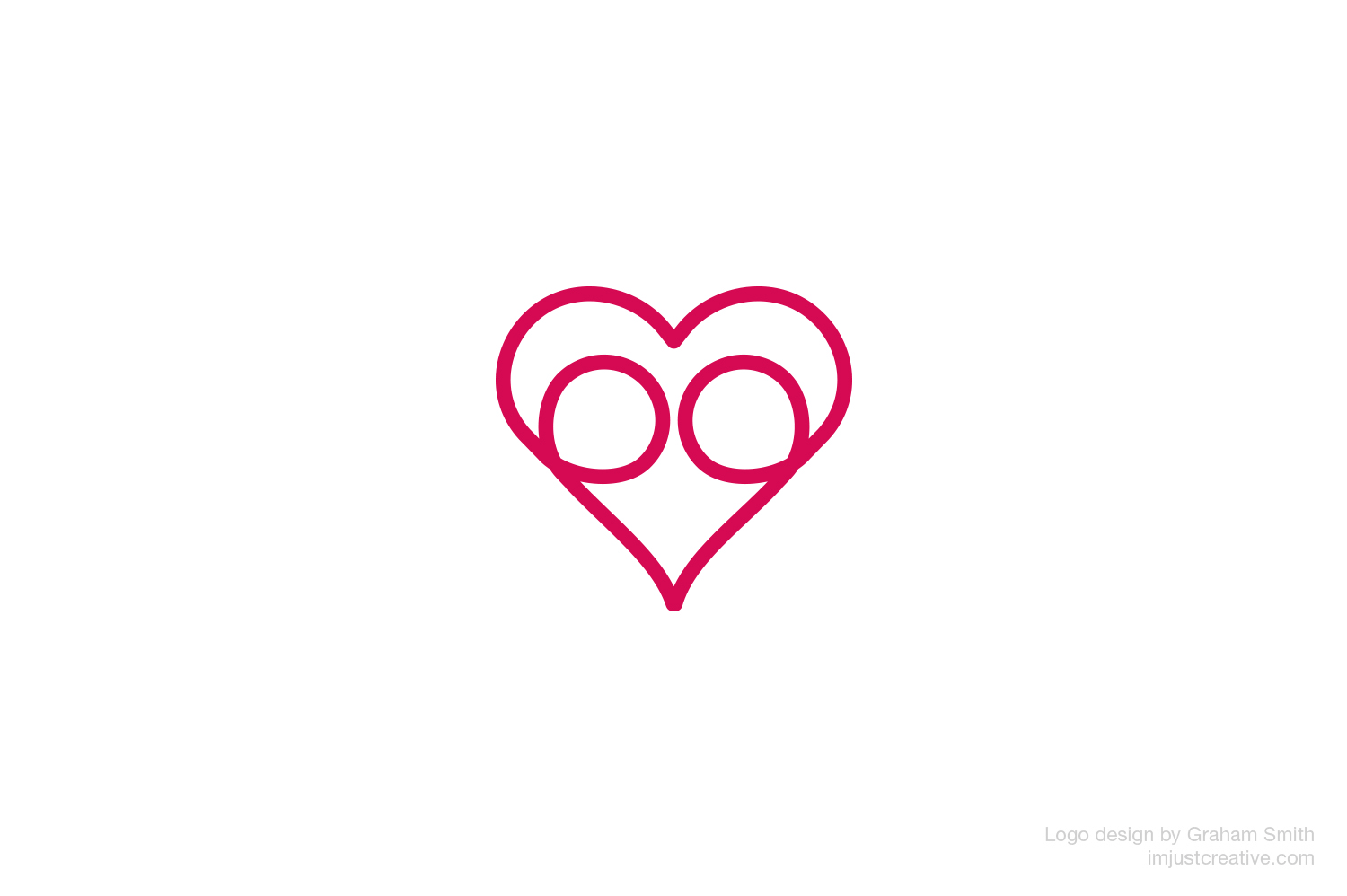 LoveHug logo designed by imjustcreative