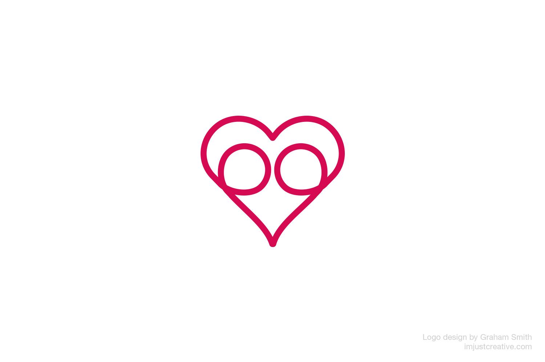 LoveHug logo designed by imjustcreative