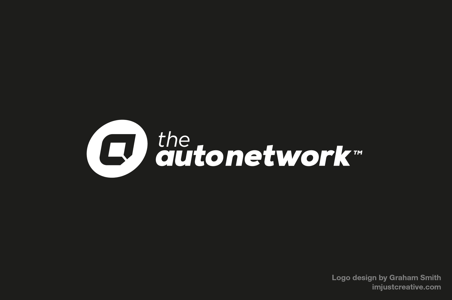 The Auto Network Mono Reversed logo design by imjustcreative