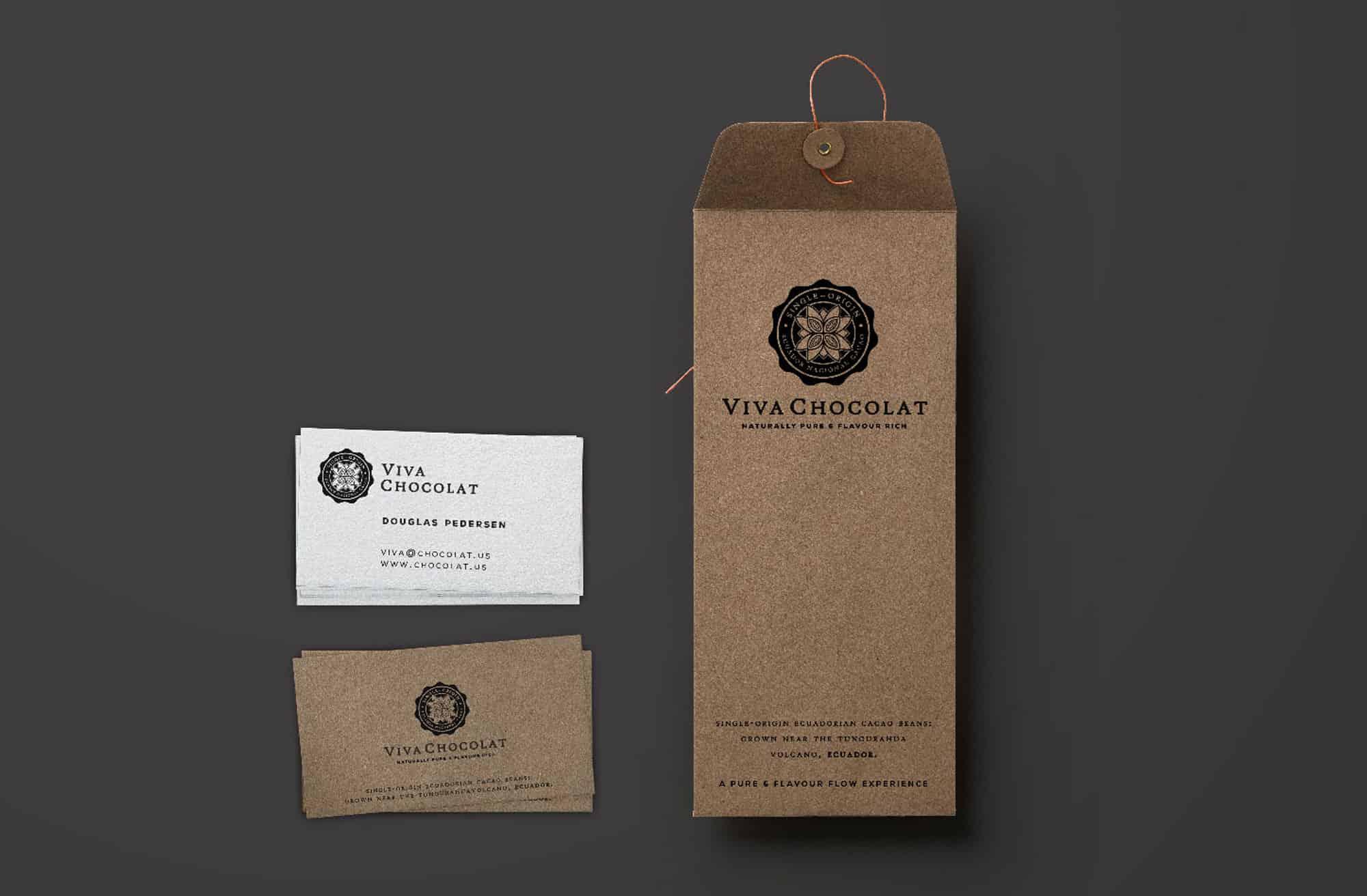 Viva Chocolat Logo & Couverture chocolate Brand Identity Designed by The Logo Smith