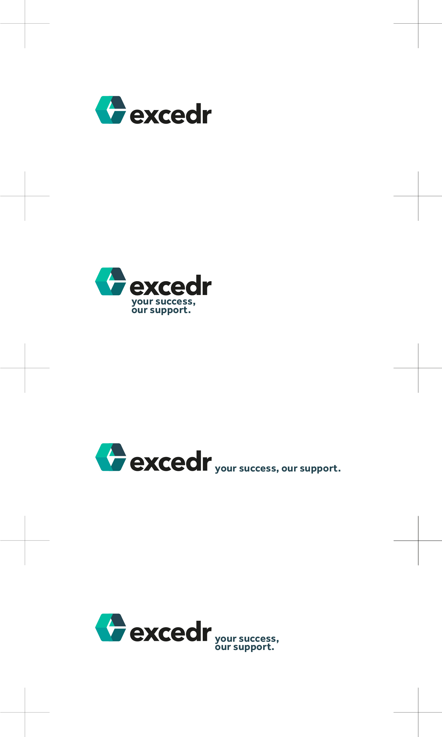 Excedr logo lock-ups Graham Smith