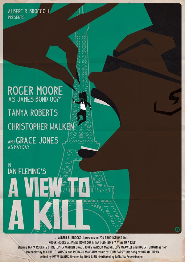 A View to a kill James Bond Poster