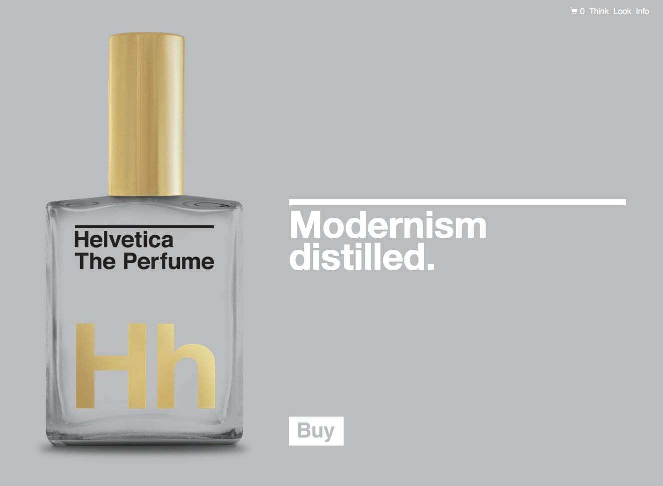 Helvetica The Perfume: The Scent of Nothing