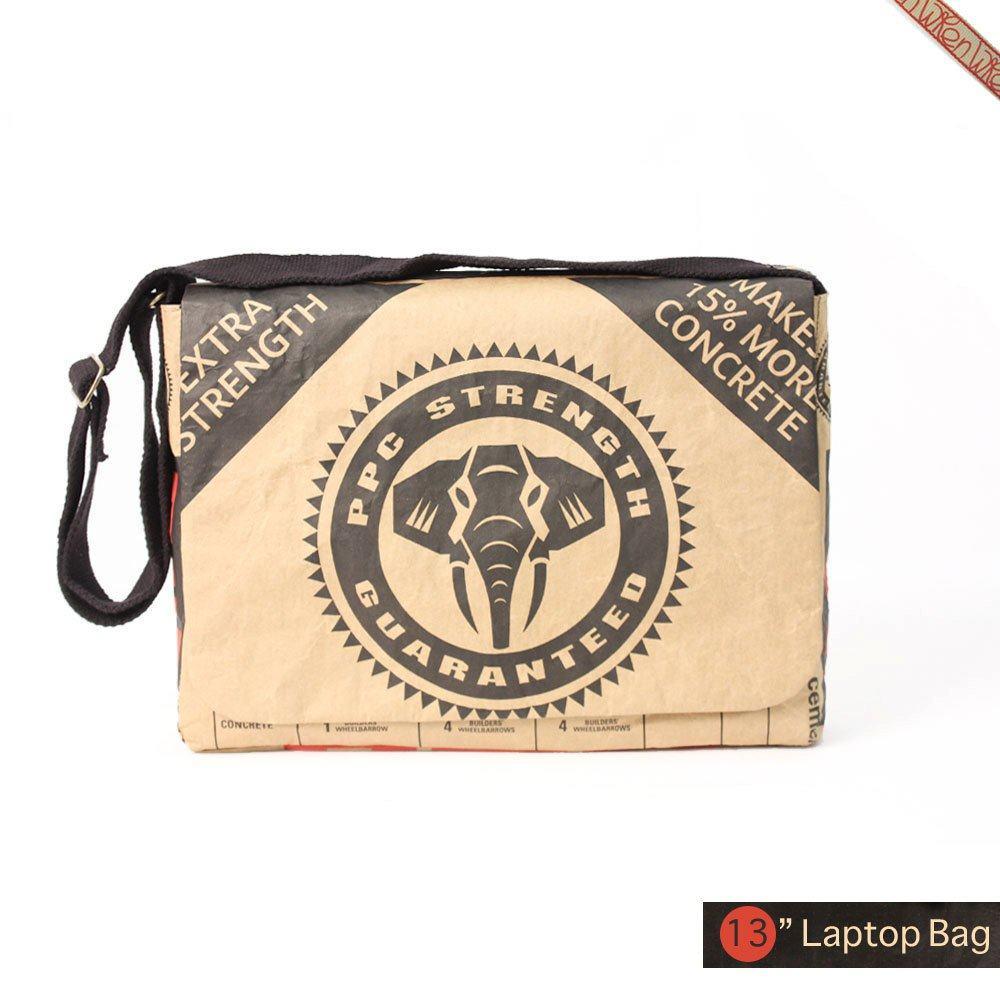 13 Macbook Air Cement Laptop Messenger Bag - Black