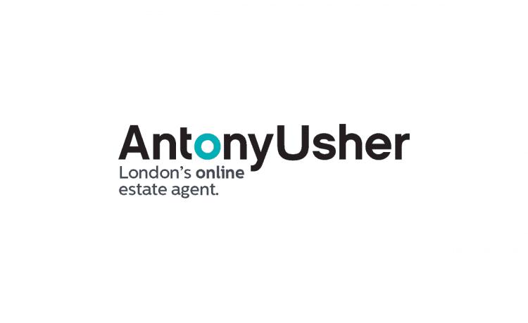 Antony Usher Estate Agent Logo Brand Identity-Designed by The Logo Smith