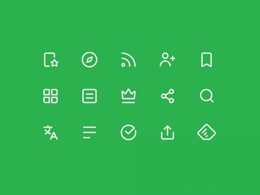 Feedly Icons by Daniel Klopper