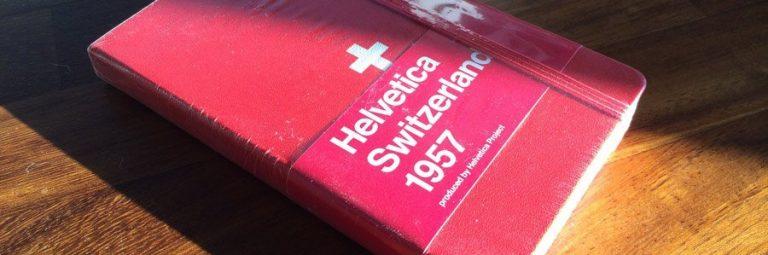 Helvetica Moleskine Notebook