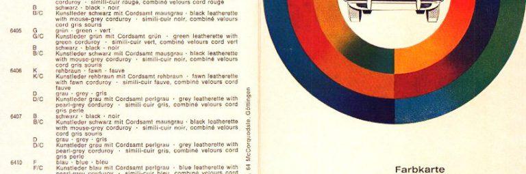 Porsche 356 Color Chart 2