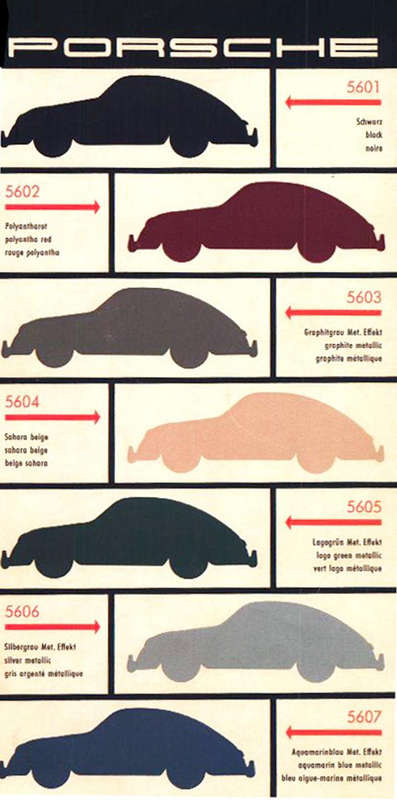 Porsche 356 Color Chart