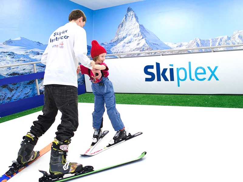 Indoor Skiing Logo Designed by The Logo Smith