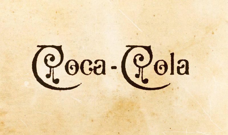 Vintage 1890 coca-cola logo design