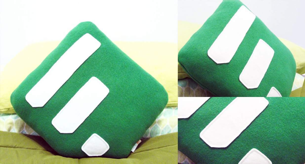 feedly logo on cushions