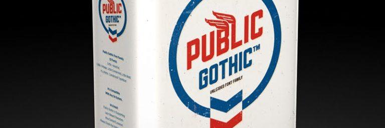 public gothic font