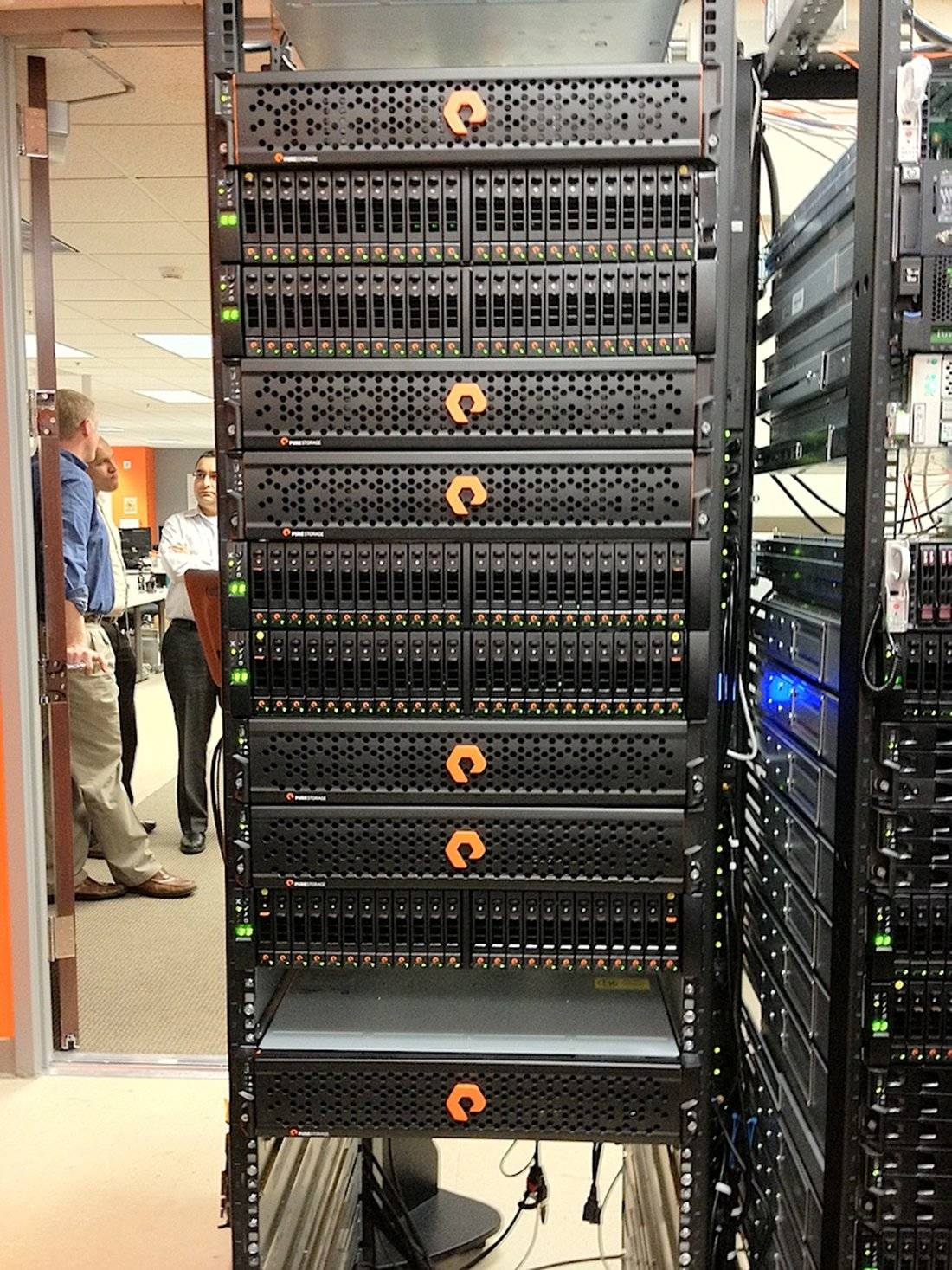 Pure storage flash array stack