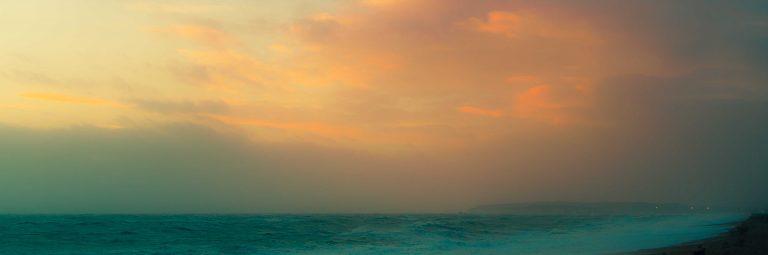Hazy Evening Sun - Seaford Beach
