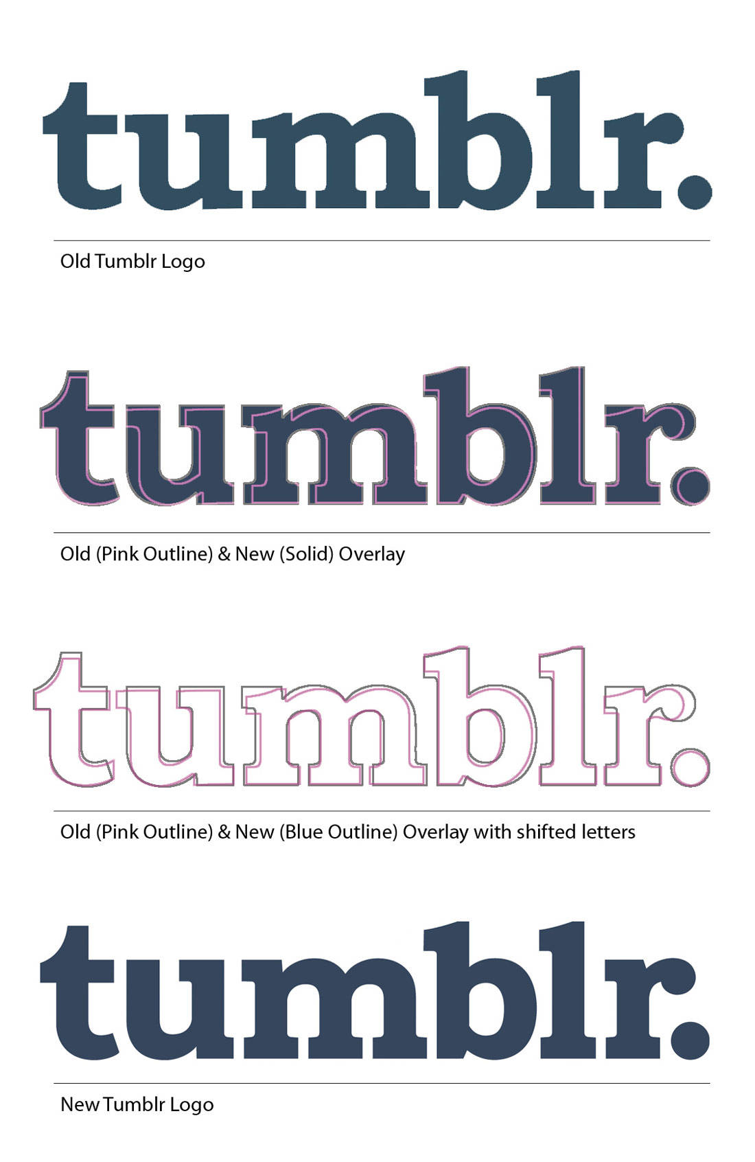 New & Old Tumblr Logo Comparison