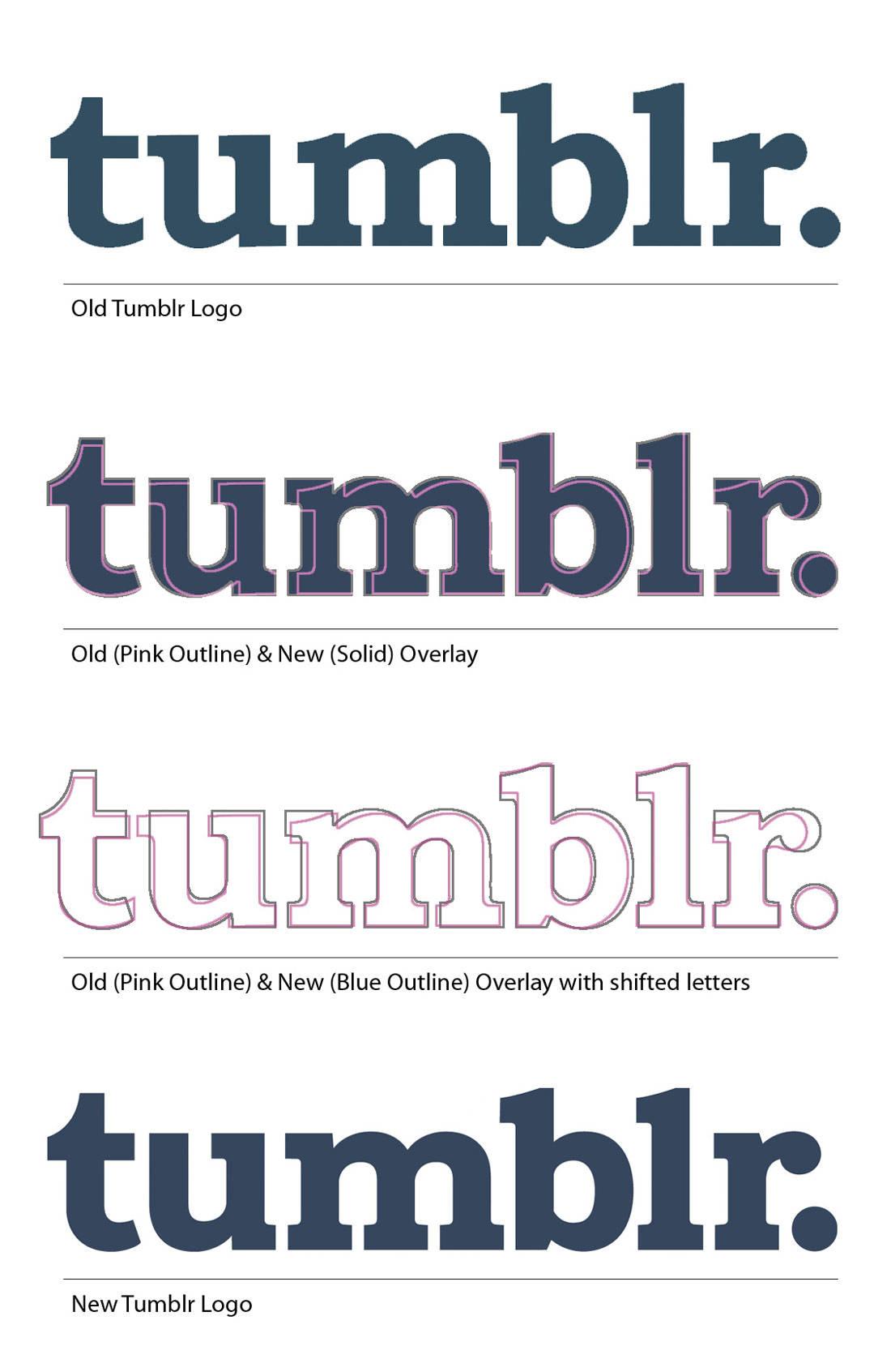 New & Old Tumblr Logo Comparison