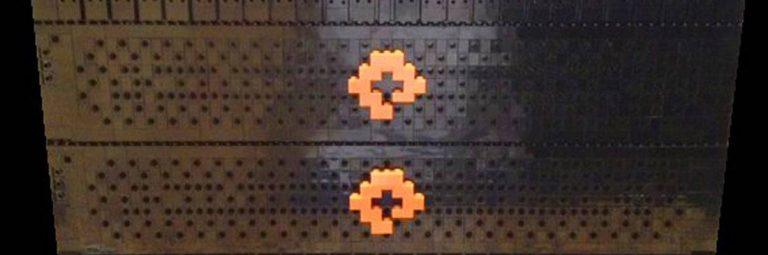 PureStorage Logo Flash Array in Lego Bricks