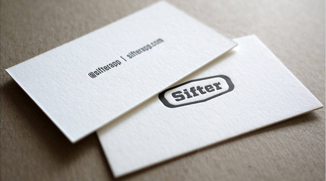 SifterApp Letterpress Business Cards and Logo designed The Logo SMith
