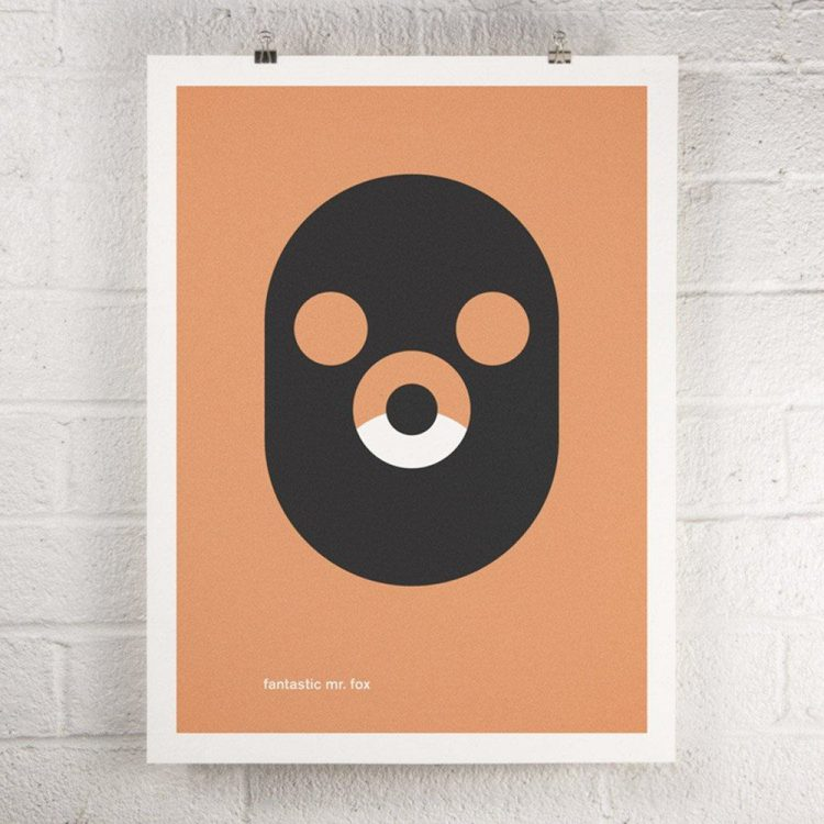 Wes Anderson Film - Fantastic Mr. Fox screen print poster
