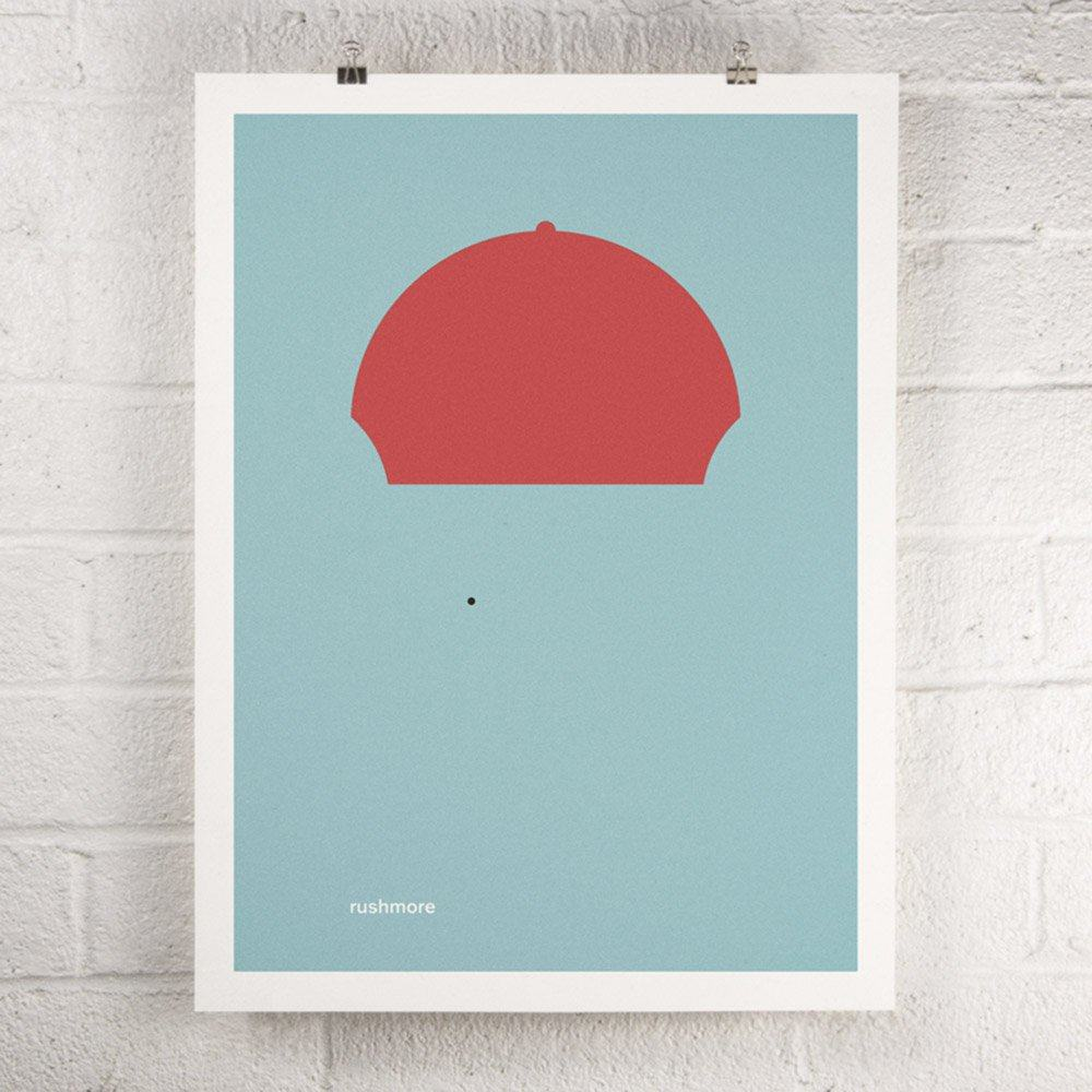 Wes Anderson Film - Rushmore screen print poster