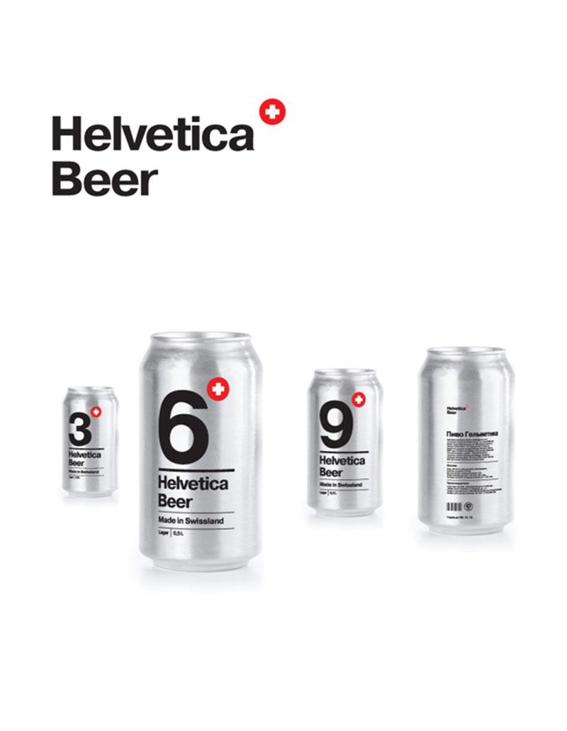 Helvetica Beer designed by Sasha Kischenko