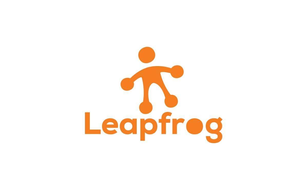 leapfrog logo Designed by Freelance Logo Designer The Logo Smith.