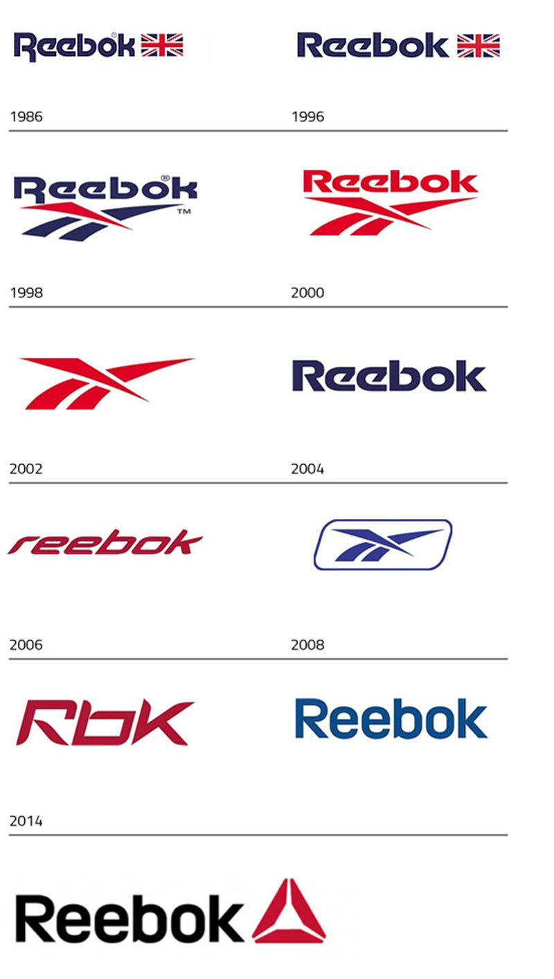 reebok logo design evolution and history
