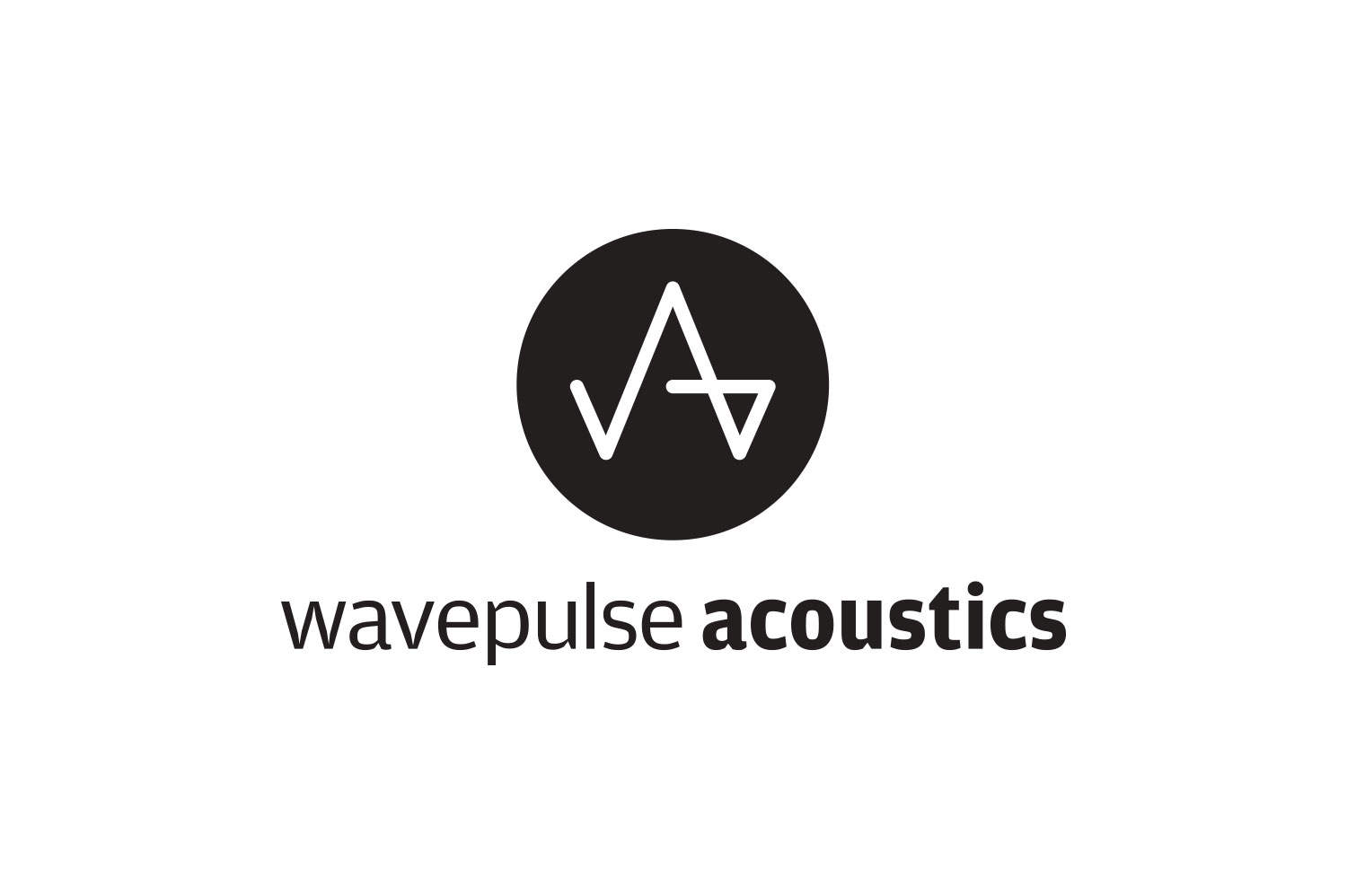 wavepulse acoustic logo designed by The Logo Smith