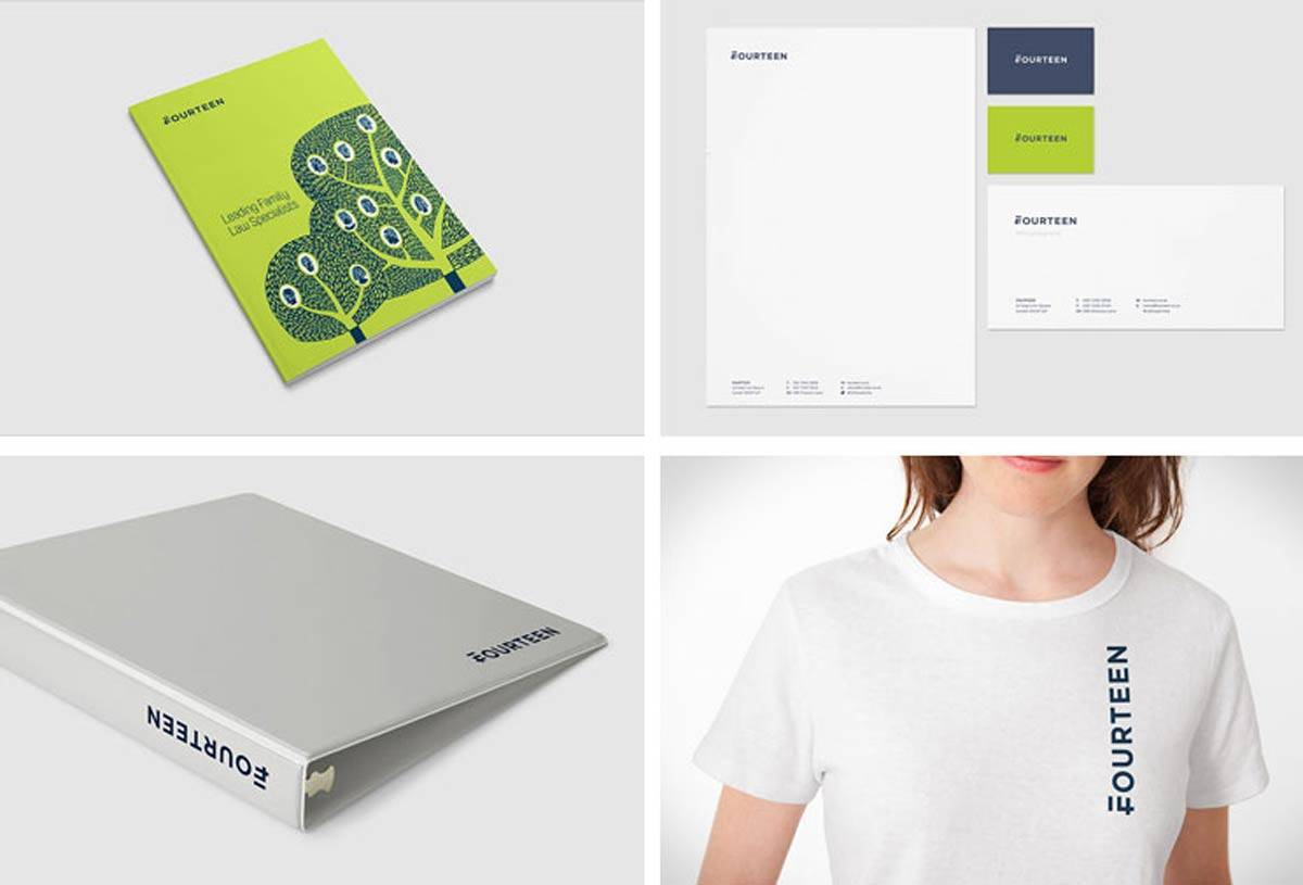Fourteen Identity Design by WeAreMash