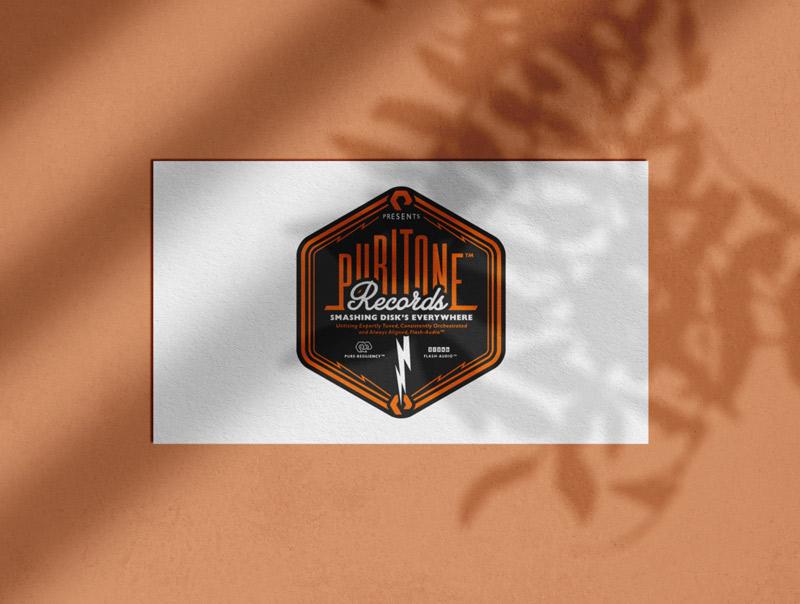 Music Label Logo Designed by The Logo Smith Textured Portfolio 2019
