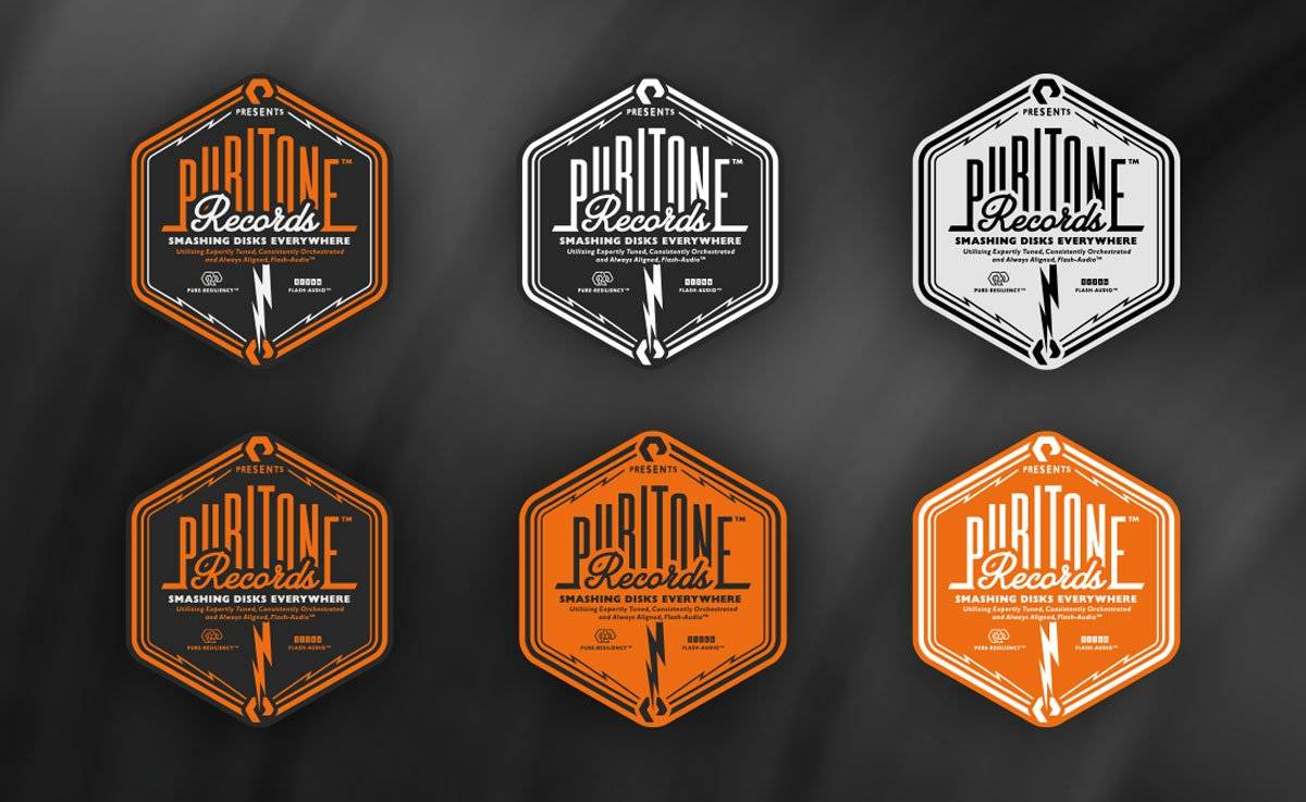 Puritone Records For Pure Storage Logo Designed by Freelance Logo Designer The Logo Smith.