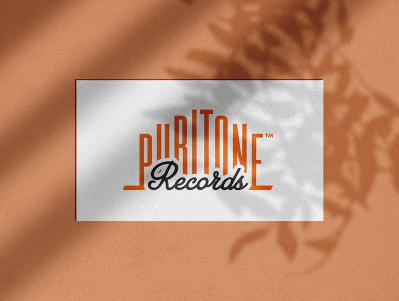 Puritone Records Music Label Logo Designed by The Logo Smith Textured Portfolio2019