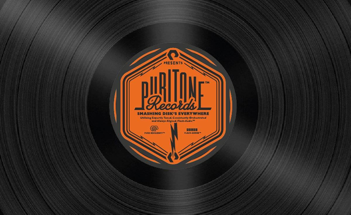 Puritone Records Vinyl Logo-Design by The Logo Smith
