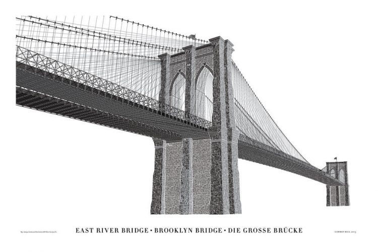 Brooklyn Bridge Letterpress Poster designed by Cameron Moll