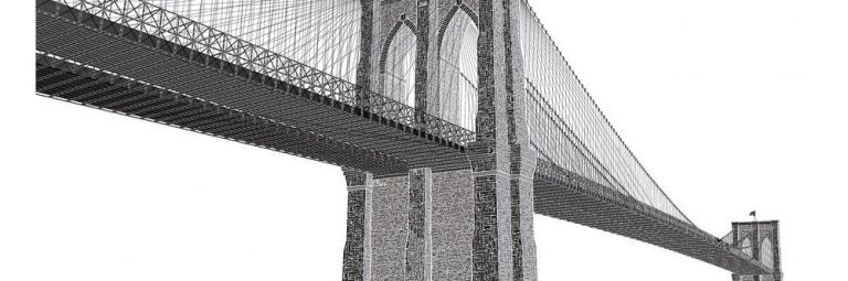 Brooklyn Bridge Letterpress Poster designed by Cameron Moll