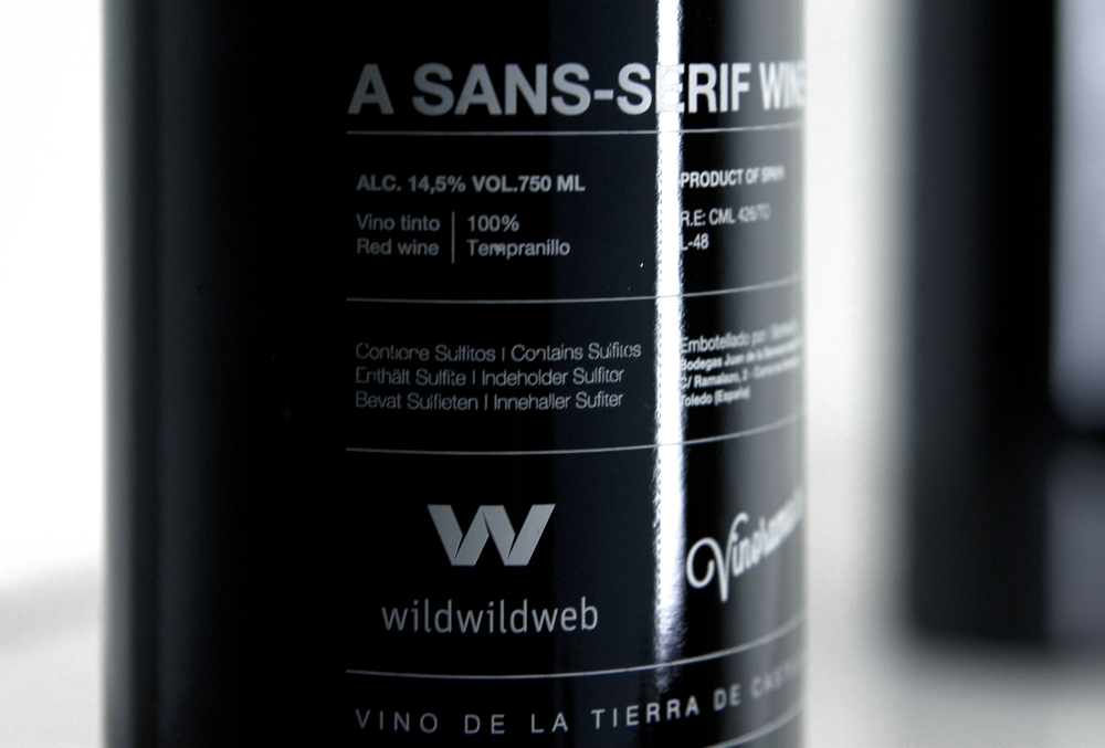 Helvetica Wine Bottle designed by Wild Wild Web Studio-3