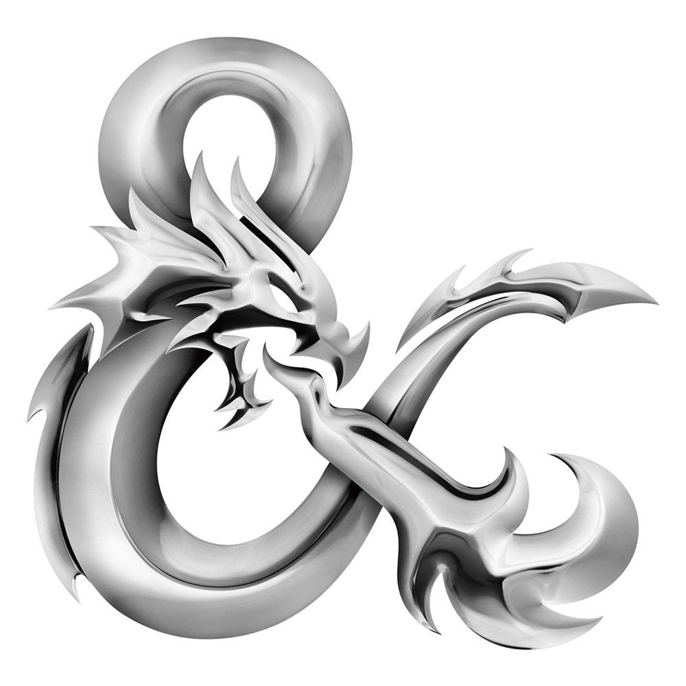 New dungeons and dragons ampersand with chrome effect