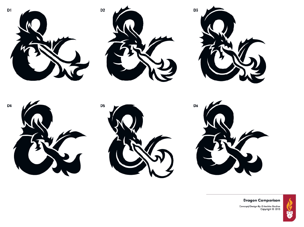 New dungeons and dragons  logo design ideas