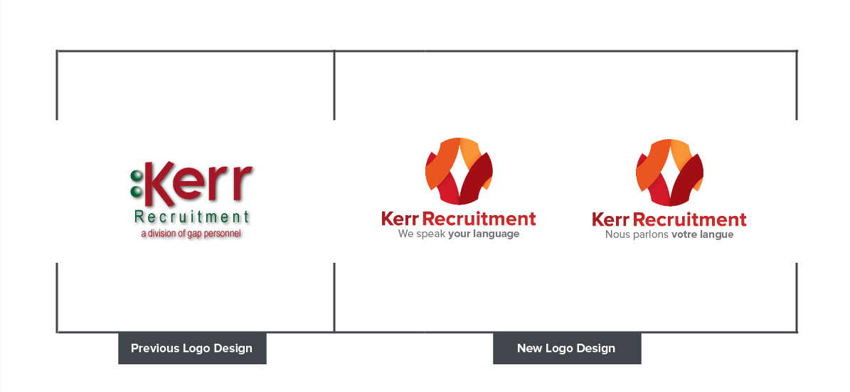 kerr old and new logo design
