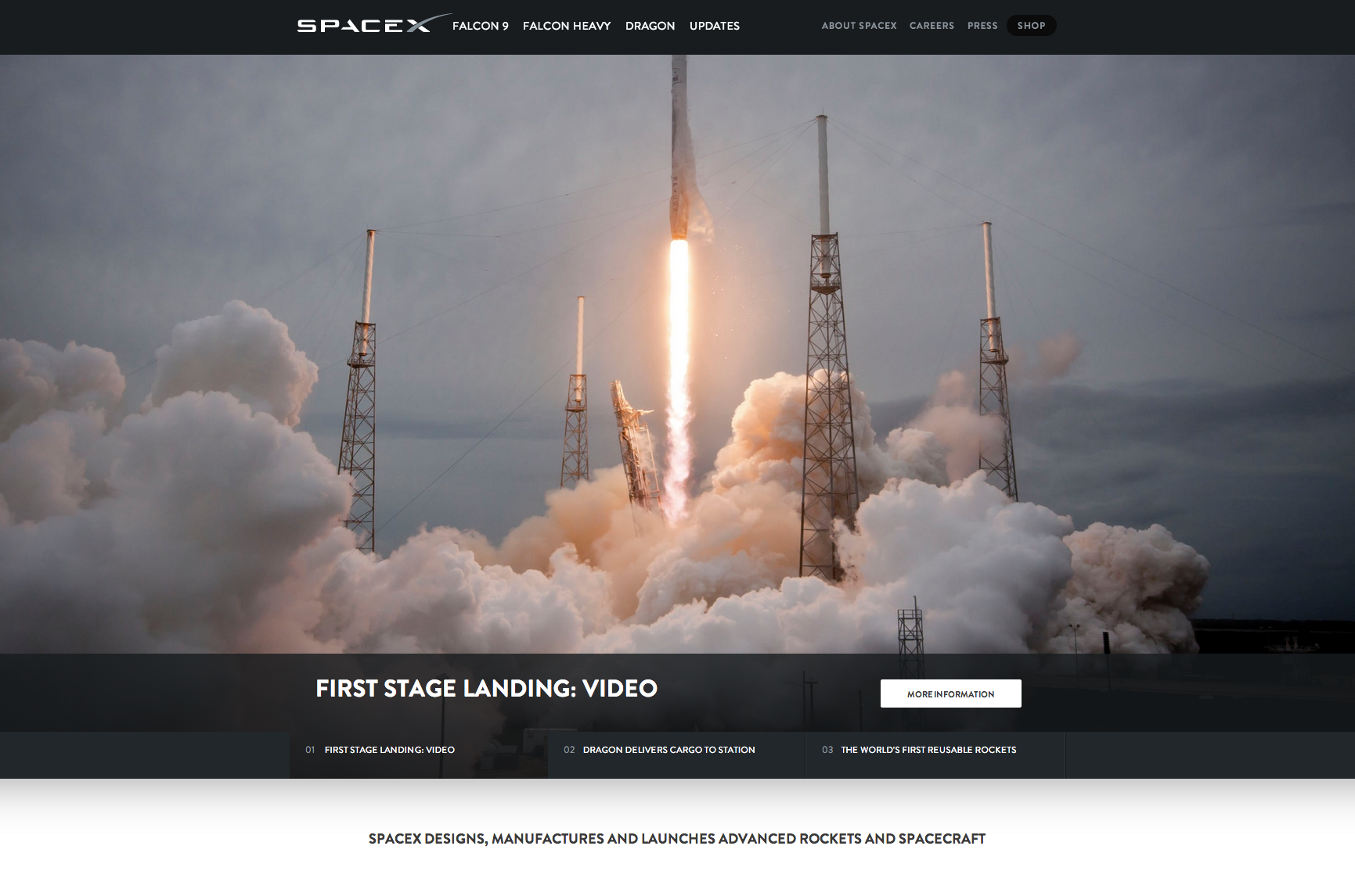 spacex first stage landing
